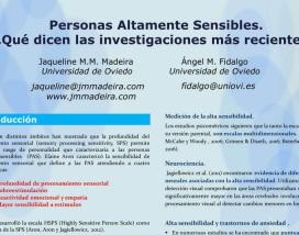 Poster científico sobre investigaciones sobre la alta sensibilidad